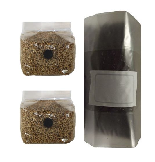 2 X Sterilized Rye Bags and 1 X 5lb bag of Manure Based Substrate