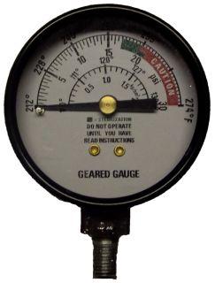 All American Sterilizer 72S: Geared Steam Gauge