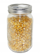 Quart Jar of Sterilized Popcorn  Mushroom Substrate