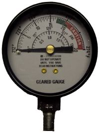 All American Sterilizer 72S: Geared Steam Gauge