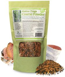 Maine Chaga Coarse Powder, Bulk Size