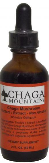 Chaga Mushroom Tincture Extract - Alcohol Free 2 Oz.